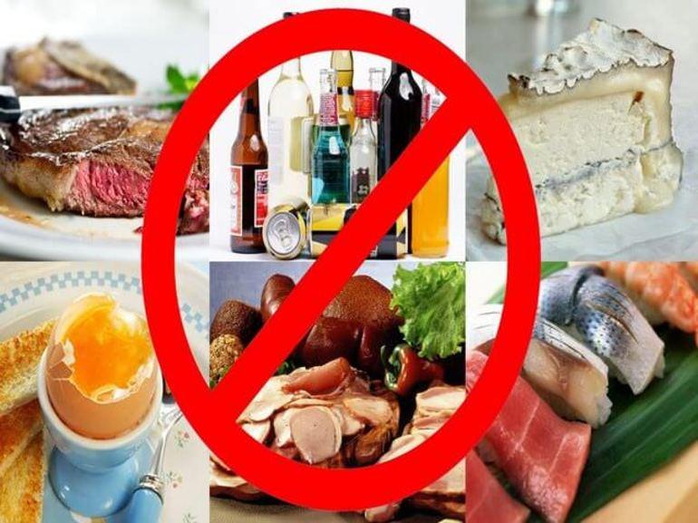 Необходимо отказаться от спиртных напитков и животного белка