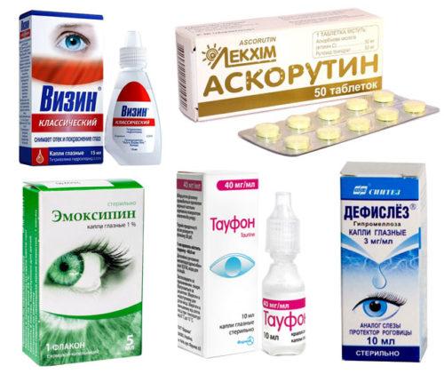 Лечение сосудов глаз