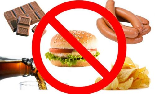 Исключить из пищи