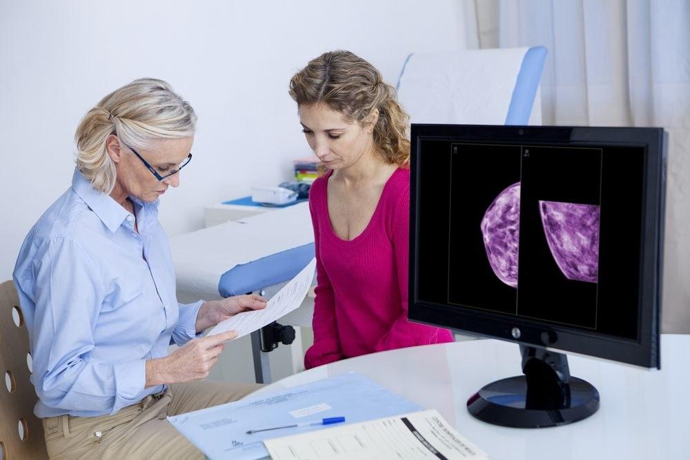 женщина на приеме у маммолога