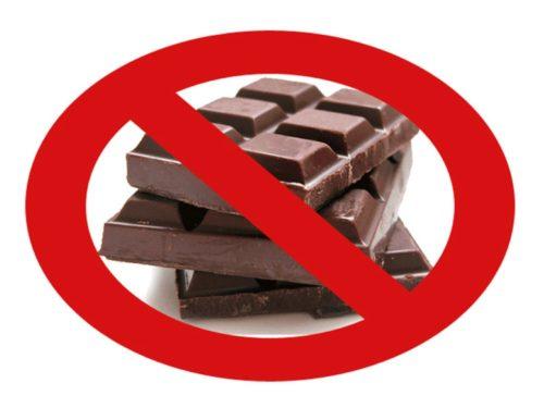 Нельзя есть шоколад